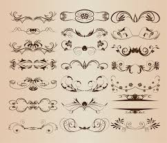 vintage ornament decorative design elements vector set 1 free