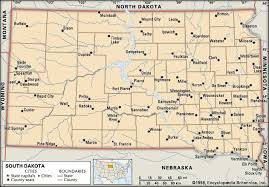 south dakota map with cities south dakota flag facts maps points of interest