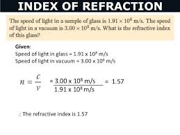 what is the speed of light 05 refraction of light