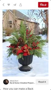 Outdoor Christmas Decorations You Can Make by 1052 Best Christmas U0026 Winter Pots Images On Pinterest Christmas