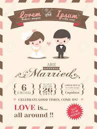 invitã e mariage modèle de carte d invitation de mariage avec le marié et mignon