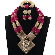 african wedding bead necklace images African wedding beads jewelry set yafeu cultural fashion jpg