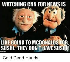 Macdonalds Meme - watching cnn for news is like going to mcdonalds fo sushi they don t