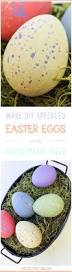 Paper Mache Easter Decorations by Diy Painted Speckled Easter Eggs Easter Eggs Paper And Fun