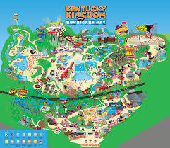 kentucky map park map kentucky kingdom and hurricane bay