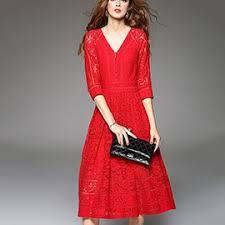 red midi dresses