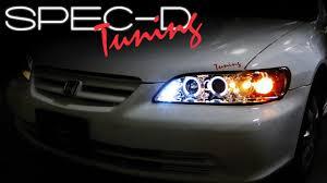 2002 honda accord headlight bulb specdtuning installation 1998 2002 honda accord projector