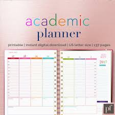 day planner template indesign academic planner indesign template stationery templates