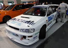 subaru gc8 rally file osaka auto messe 2014 46 garage km1 subaru impreza wrx