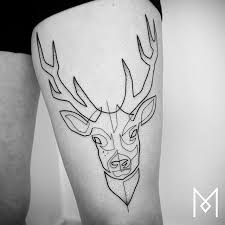 17 stunning single line tattoos by mo ganji