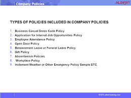 2015 albert learning com company policies company policies ppt