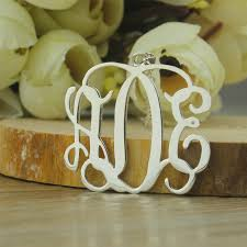 monogram jewelry cheap cheap monogram necklace single hooks silver monogram jewelry 3