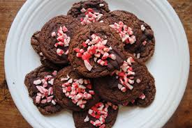 christmas cookies double chocolate peppermint cookies