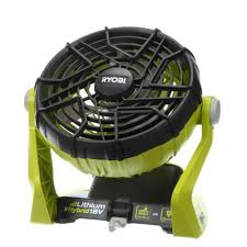 battery operated fan ryobi 18 volt one hybrid portable fan tool only p3320 the