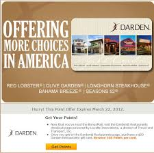 darden restaurants gift cards mypoints offer 300 points for 50 darden gift card who said