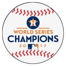 houston astros 2017 world series champions round baseball mat