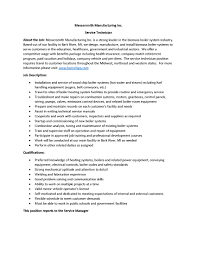 Service Technician Resume Sample by Messersmith Manufacturing Inc Service Technician