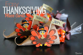 diy thanksgiving place cards easy cornucopias darice