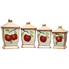 apple kitchen canisters handmade ceramic kitchen canisters jars ebay