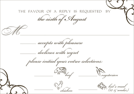 Wedding Invitations With Menu Cards Example Rsvp Card Response For Wedding Invitation Cards Rsvp