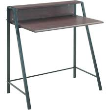 Walmart Mainstays Computer Desk Mainstays 2 Tier Writing Desk Multiple Finishes Walmart Com