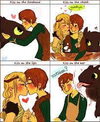 Berk Meme - how to train your dragon kiss meme by sweetastea on deviantart