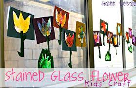 Kids Stained Glass Craft - miss lovie stained glass flower kids craft tutorial