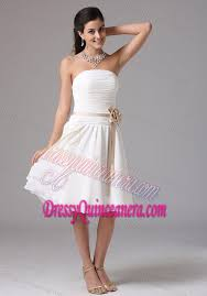 quinceanera damas dresses strapless ruched white quinceanera damas dresses with sash