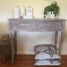Whitewash Desk Elegant 2 Drawer Whitewash Console Hall Table Desk Stand French