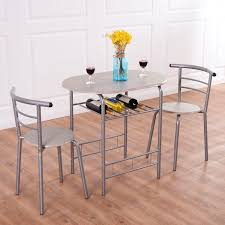 Dining Set 2 Chairs Costway 3 Dining Set Table 2 Chairs Bistro Pub Home Kitchen