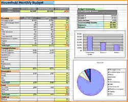 How To A Household Budget Spreadsheet 5 Household Budget Templates Bibliography Format