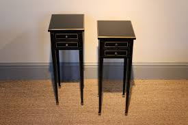 Small Bedside Table Smart Small Pair Of 1950s Ebonised Bedside Tables