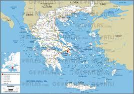 Aegean Sea Map Geoatlas Countries Greece Map City Illustrator Fully