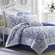 Laura Ashley Office Furniture by Laura Ashley Charlotte Blue And White Floral Cotton 4 Piece