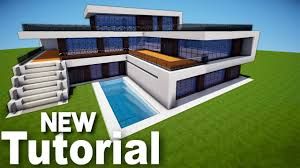 small modern house in minecraft minecraft how to build a small modern house tutorial 1 youtube