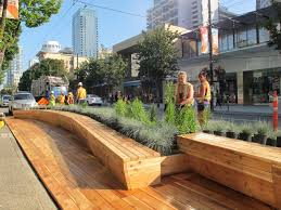 Urban Benches Park Bench Robson Street Cafe Crepe Ob Downtown Pinterest