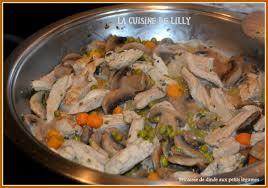 plat facile a cuisiner et rapide fricassée de dinde aux petits légumes la cuisine de lilly
