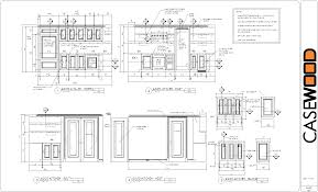 Kitchen Cabinet Drawing Sample Cad Drawings Casewood Cabinet Shop Drawings Cad Drawings