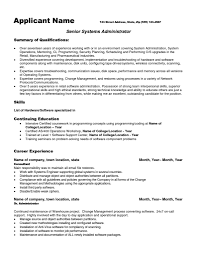 Dba Sample Resume by Linux Admin Sample Resume Resume For Your Job Application