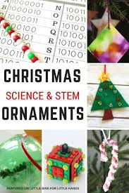 stem inspired science ornaments for to make