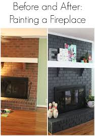 Brick Fireplace Paint Colors - image result for painted brick fireplace before and after