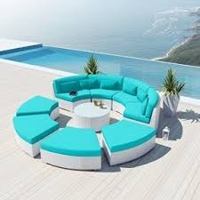 White Patio Furniture Sets Blue Patio Furniture Sets Foter