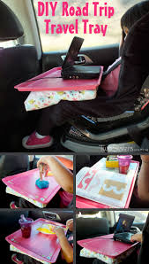 Portable Lap Desk Kids by Diy Road Trip Travel Tray Two Sisters Crafting