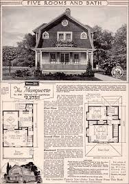1923 marquette forward facing gambrel gabled roof sears modern