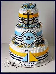 266 Best Diaper Cakes Images On Pinterest Baby Shower