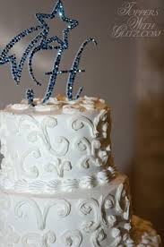 h cake topper toppers with glitz shooting with initial craft ideas