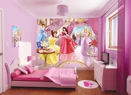 wall theme kids bedroom girl badroom with princes theme feature pink
