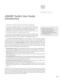 aware toolkit user guide addressing significant weather impacts
