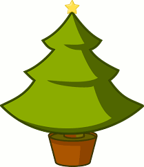simple christmas tree outline clip art library