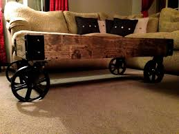 Rustic Coffee Table With Wheels 30 Best Collection Of Rustic Coffee Table With Wheels